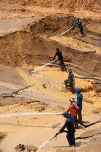Brazilian small scale goldmine